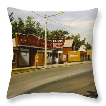 Harvey Paint Store Throw Pillow