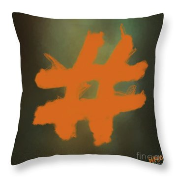 Throw Pillow featuring the digital art Hashtag by Jim  Hatch