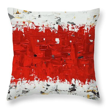 Throw Pillow featuring the painting Hashtag Red - Abstract Art by Carmen Guedez