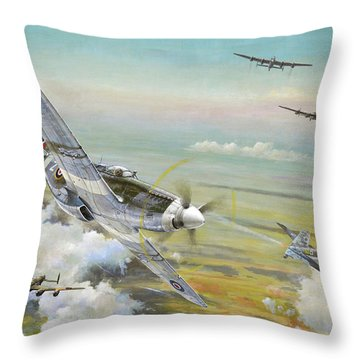 Haslope's Komet Throw Pillow by Colin Parker