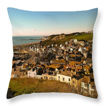 Hastings, Sussex, England Throw Pillow