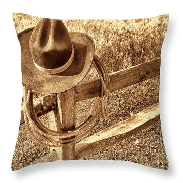 Hat And Lariat Throw Pillow