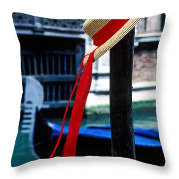 Hat On Pole Venice Throw Pillow by Garry Gay