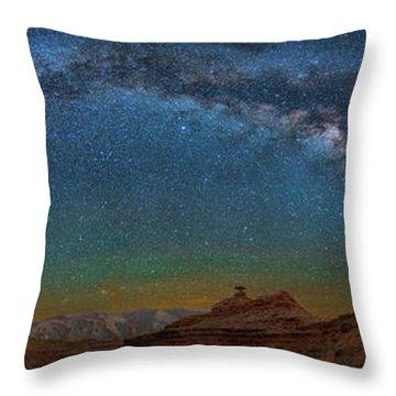 Hat Rock Milky Way Throw Pillow