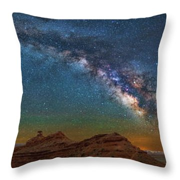 Hat Rock Milky Way Throw Pillow