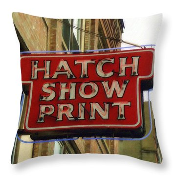 Hatch Show Print Throw Pillow