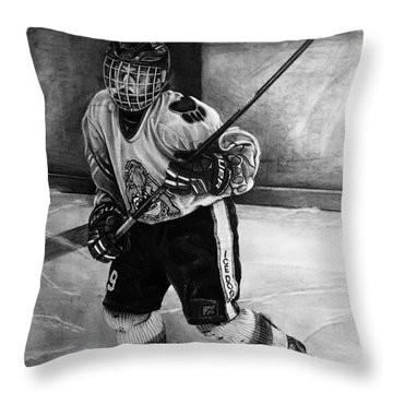 #9 Hatfield Ice Dog Bantam A Throw Pillow