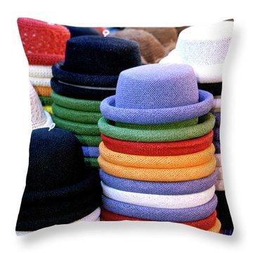 Hats, Aix En Provence Throw Pillow