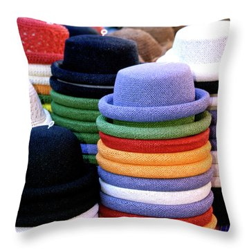 Hats, Aix En Provence Throw Pillow