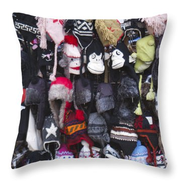 Hats Throw Pillow by Henri Irizarri