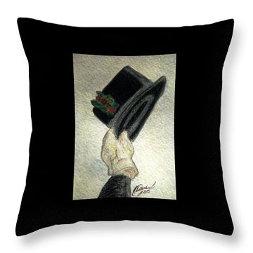 Hats Off To The Holidays Throw Pillow