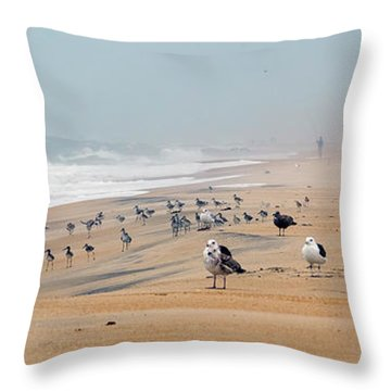 Hatteras Island Beach Throw Pillow
