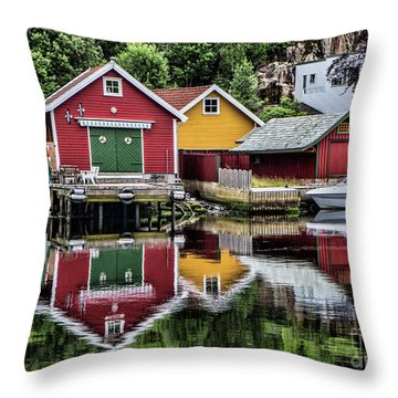 Haugesund Reflections Throw Pillow