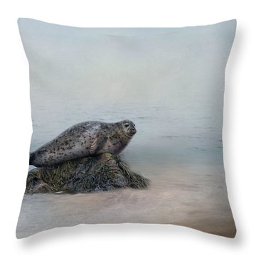 Throw Pillow featuring the photograph Hauling Out by Robin-lee Vieira