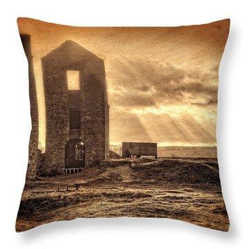 Haunted Britain - Magpie Mine Throw Pillow