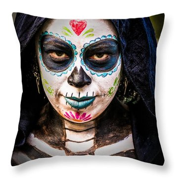 Haunted Eyes Throw Pillow