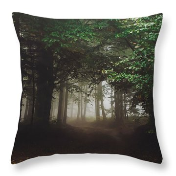 Haunted Forest #2 Throw Pillow