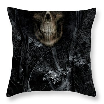 Throw Pillow featuring the photograph Haunted Forest by Al Bourassa