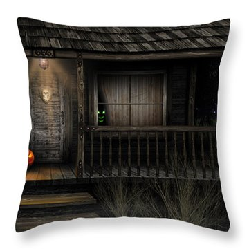Haunted Halloween 2016 Throw Pillow by Anthony Citro