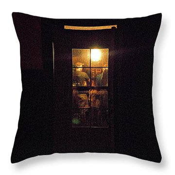 Haunted House 4 Throw Pillow by William Horden