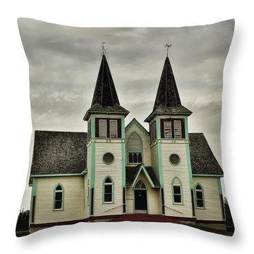 Haunted Kipling Church Throw Pillow by Ryan Crouse