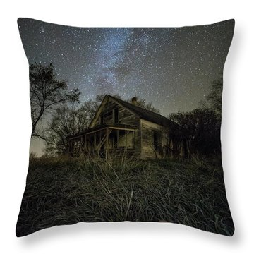 Throw Pillow featuring the photograph Haunted Memories by Aaron J Groen