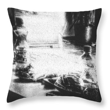 Haunted Room I Throw Pillow by Mimulux patricia no No