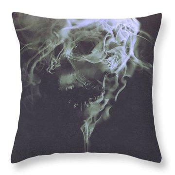 Haunted Smoke  Throw Pillow