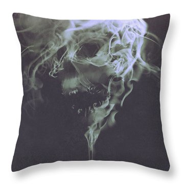 Haunted Smoke  Throw Pillow
