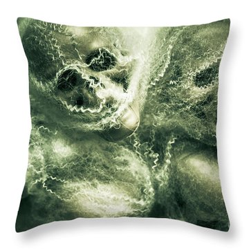 Haunted Undead Skeleton Heads Throw Pillow