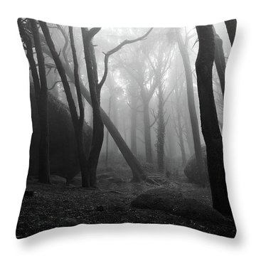 Haunted Woods Throw Pillow by Jorge Maia