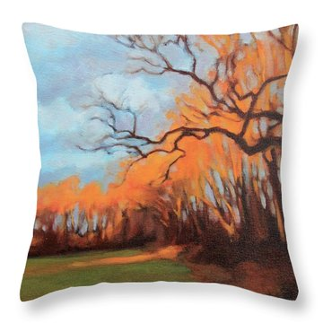 Haunting Glow Throw Pillow by Andrew Danielsen