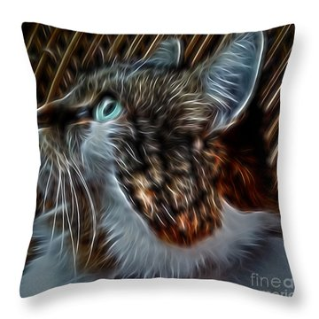 Haunting Stare Throw Pillow