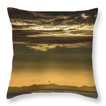 Hauraki Gulf At Sunrise Throw Pillow