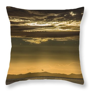 Hauraki Gulf At Sunrise Throw Pillow