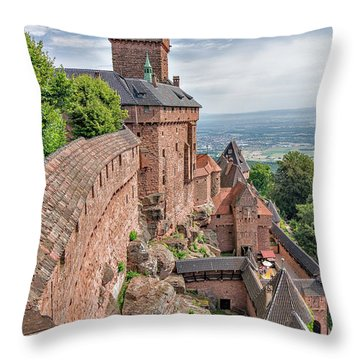 Throw Pillow featuring the photograph Haut-koenigsbourg by Alan Toepfer