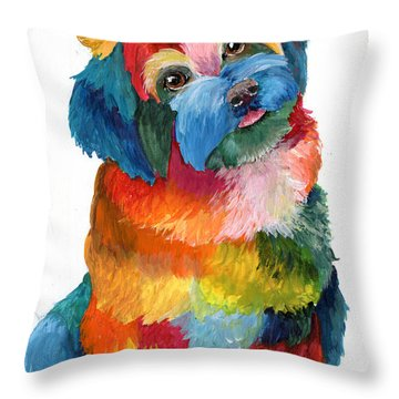Hava Puppy Havanese Throw Pillow by Sherry Shipley