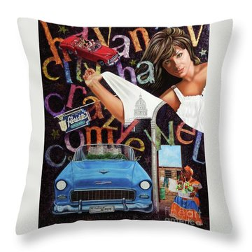 Havana City Throw Pillow
