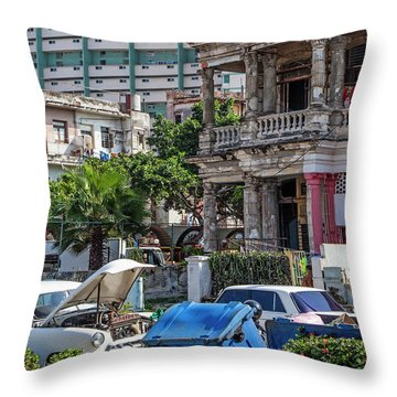 Throw Pillow featuring the photograph Havana Cuba by Charles Harden