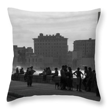 Havana Cuba Throw Pillow by Peter Verdnik