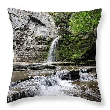 Eagle Cliff Falls II Throw Pillow