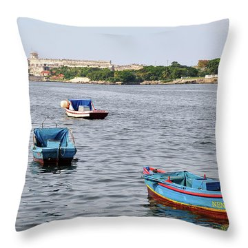 Havana Harbor Throw Pillow