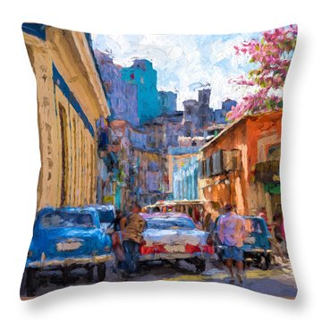 Havana In Bloom Throw Pillow