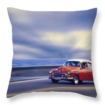Havana Malecon Throw Pillow