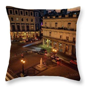 Throw Pillow featuring the photograph Havana Nights by Joan Carroll