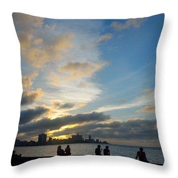 Havana Sunset 2 Throw Pillow