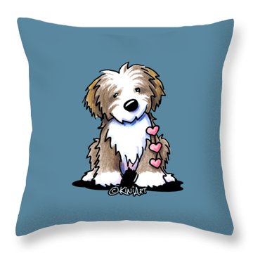 Havanese Heartstrings Throw Pillow