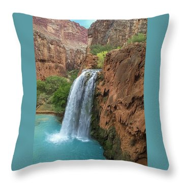 Havasu Falls Grand Canyon Throw Pillow
