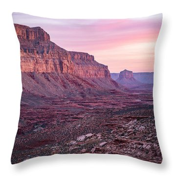 Havasupai Desert Sunrise Throw Pillow