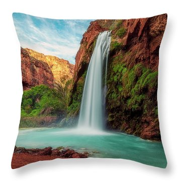 Havasupai Falls Throw Pillow
